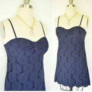 Lilly Pulitzer Mini Blue Lace Dress Size 4